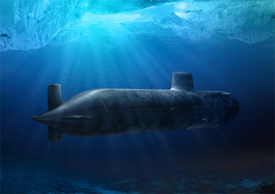 This picture is anSSN Astute Class Attack Submarine